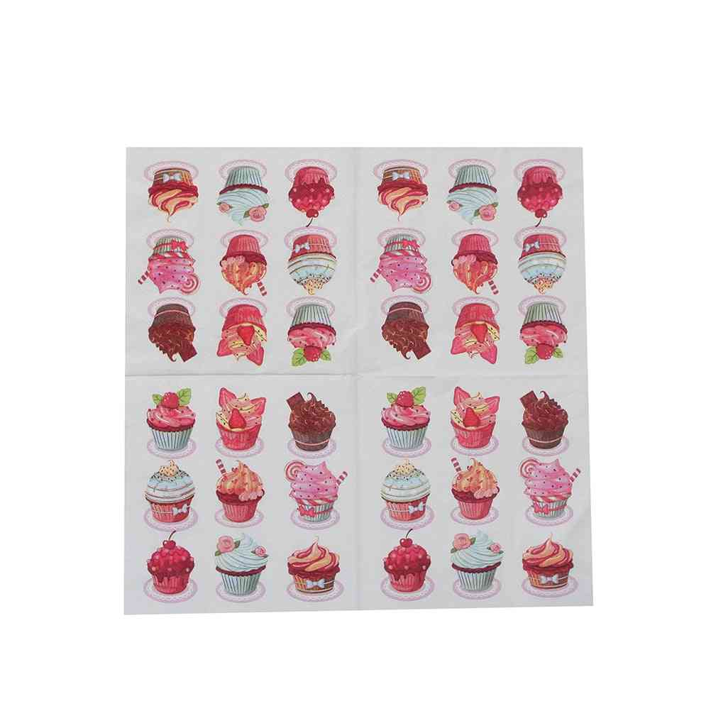 Cake Paper Napkin Tissue, Decoupage Ornaments