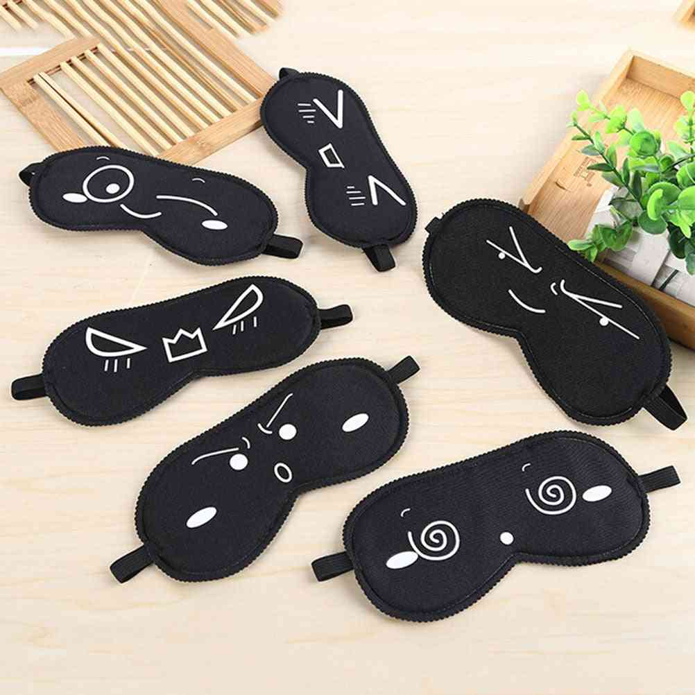 Sleeping Eye Mask, Black Bandage On Eyes Used During Sleep And Travelling