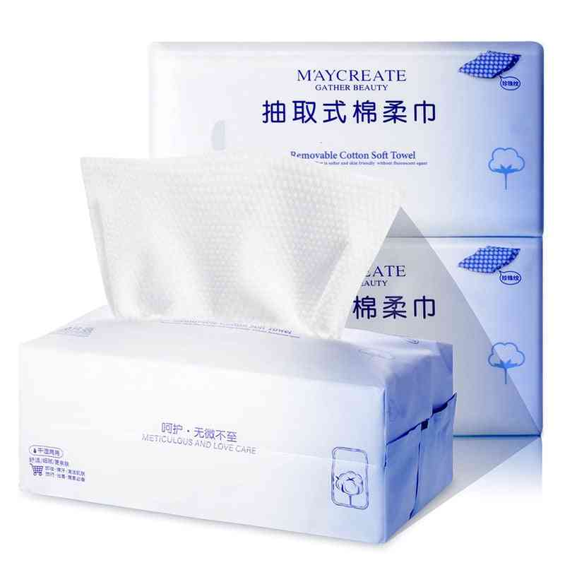 Disposable Facial Tissue-natural Cotton And Skin-friendly