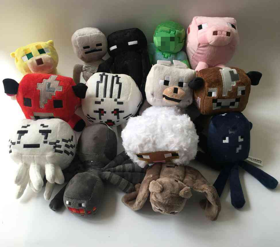 Minecrafted Plush Toy - Zombie, Bat , Wolf Stuffed Plush Doll