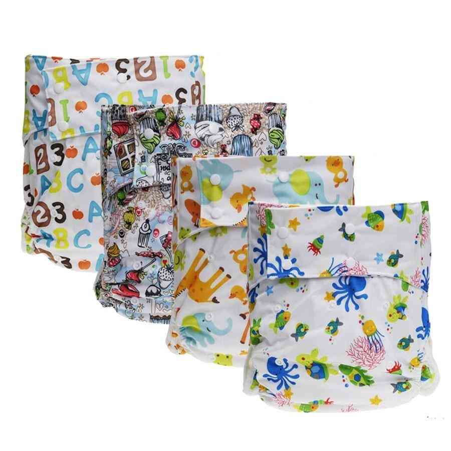 1pc Adult Washable Cloth Diaper - Adjustable , Reusable Ultra Absorbent , Incontinence Pants For Adults