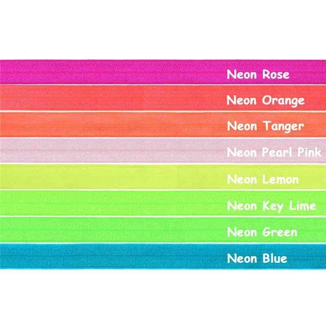 Solid Color Shiny Foe Foldover Elastic Band