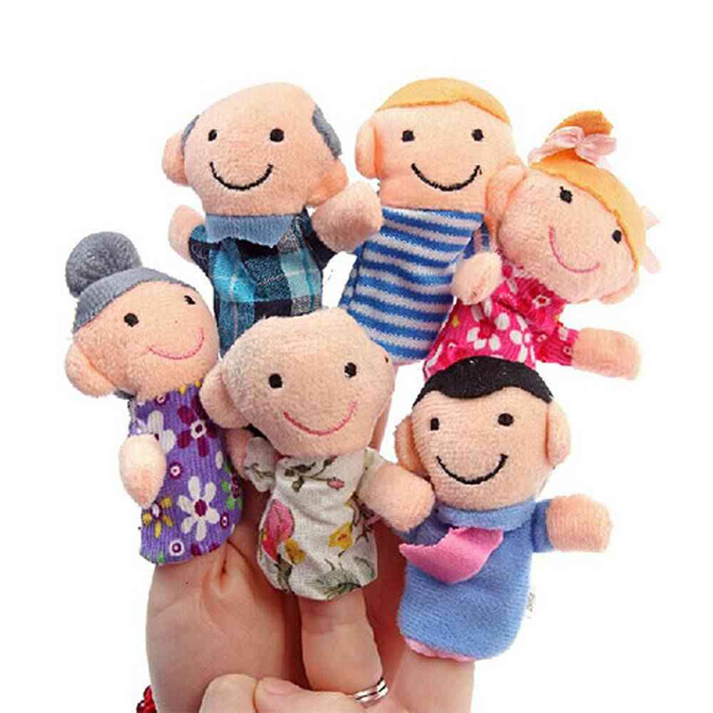 Family Finger Puppets Set - Mini Plush Toy