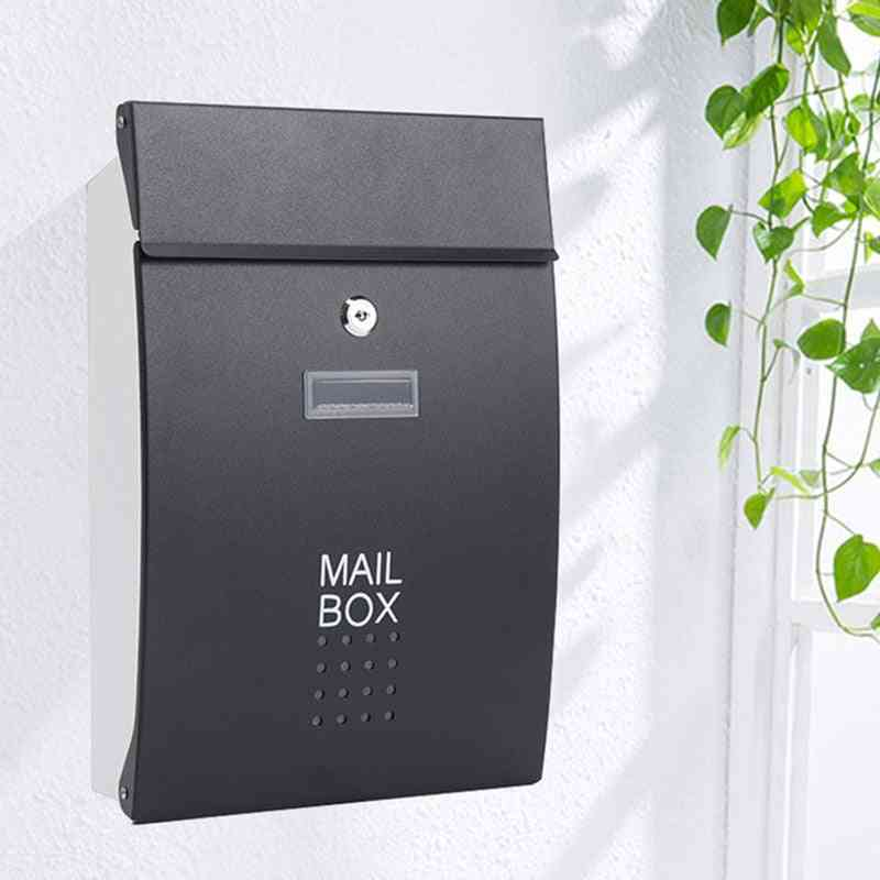 Wall Mounted Vertical Locking Drop Mailbox