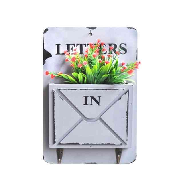 Wall Mount Mailbox For Garden Outdoor Letter Newspaper Organizer