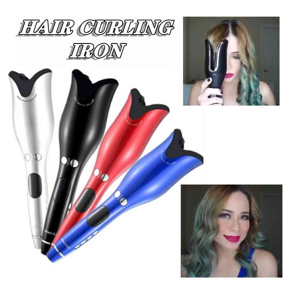 Beach Waves Automatic Air Spin N Curls Rotating Hair Curler, Roller Ceramic Negative Ionic Hair Curling Iron Styling