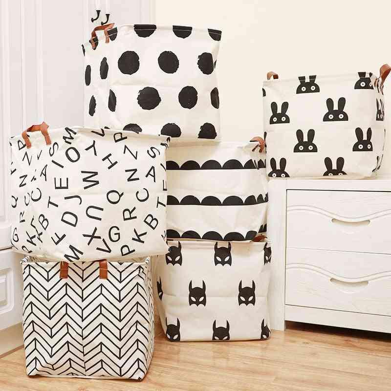 Cube Folding Laundry Basket, Storage Box Toy, Sundries, Books, Lego