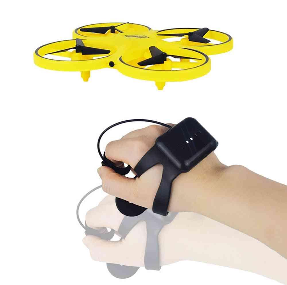 Mini Quadcopter Drone With Smart Watch, Remote Sensing Ufo