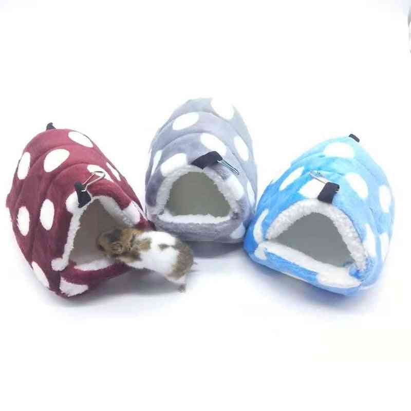 Hamster Cage-warm, Plush And Soft Hanging Bed For Mini Animals