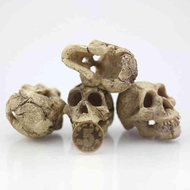 Simulation Statue Landscape, Reptile Cave Artificial - Rhino Sheepshead, Resin Skull, Aquarium Terrarium Decoration