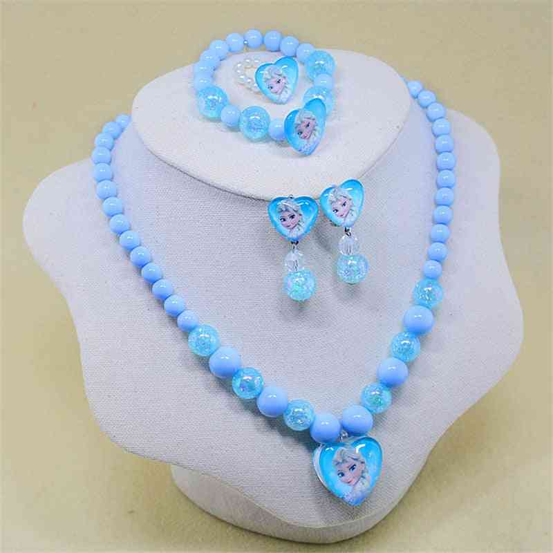 Necklace, Bracelet, Clip And Earring - Doll Accessories