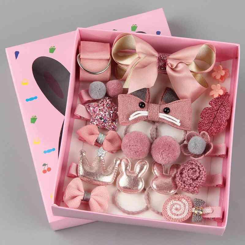 Cartoon Hair Clip, Head Wear Pin Accessories Box For Baby Girl