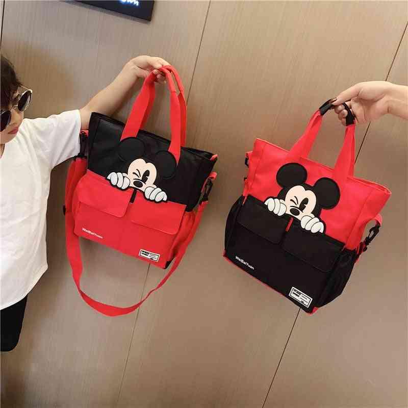 Disney Mickey Mouse School Bag - Bag Canvas's Messenger Shoulder Bag For Kids