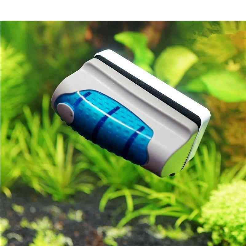 Magnetic Aquarium Fish Tank Glass Cleaner Brush