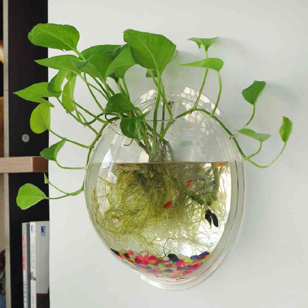 Terrarium Ball Globe Shape Clear Hanging Glass Vase - Flower Planter Pots