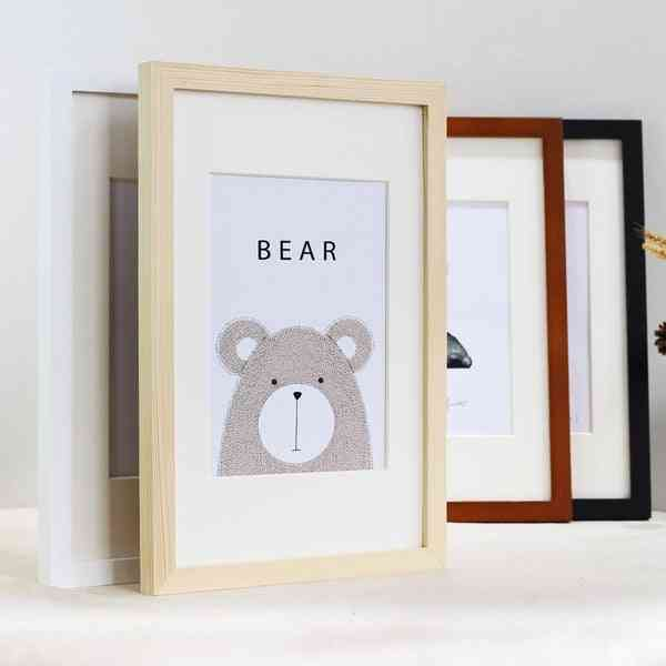 Nordic Simple Wooden Photo Frame