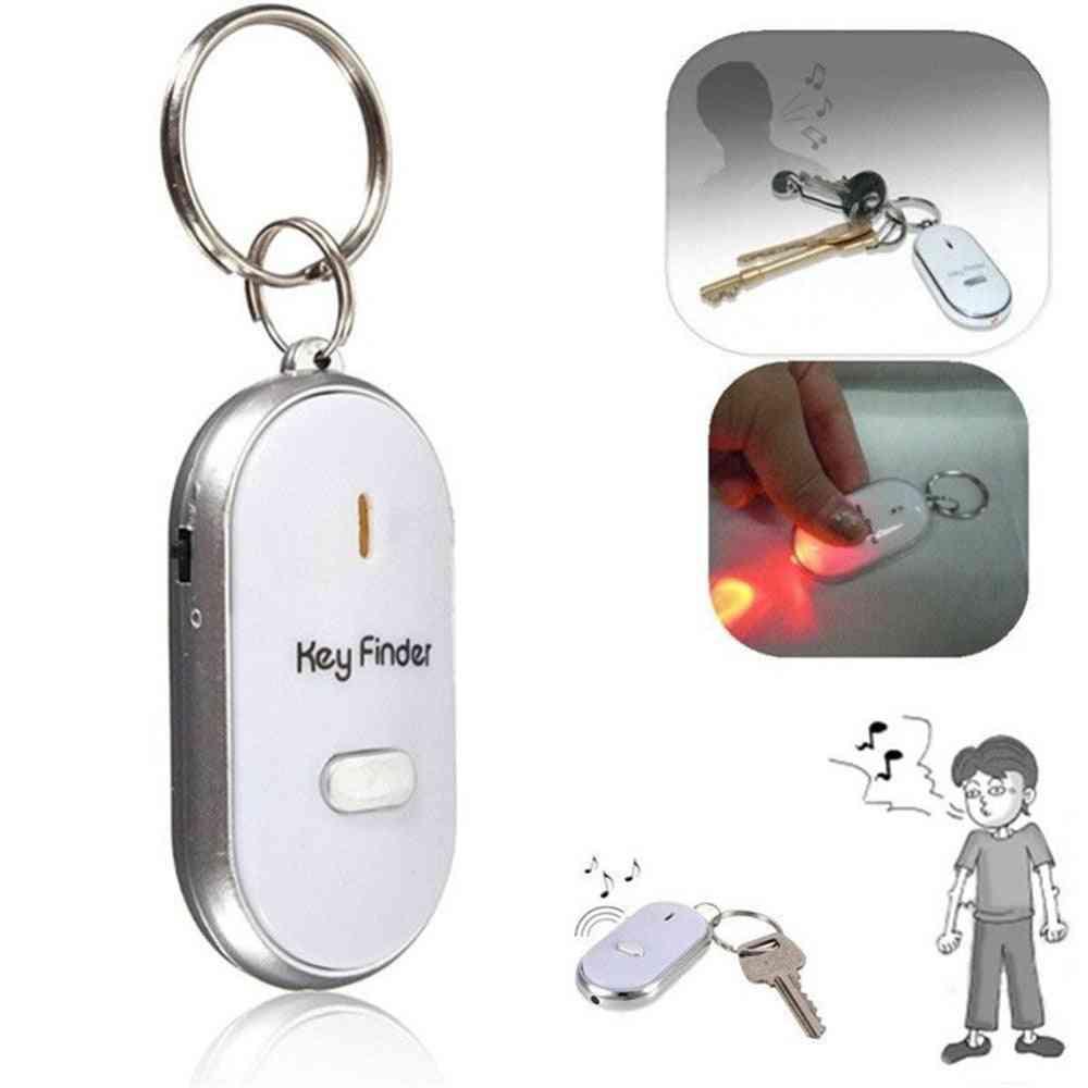 Wireless Anti Lost Alarm Key Finder Locator Keychain - Whistle Sound Led Light Tracker Anti Lost Device For Elderly, Kid, Pet