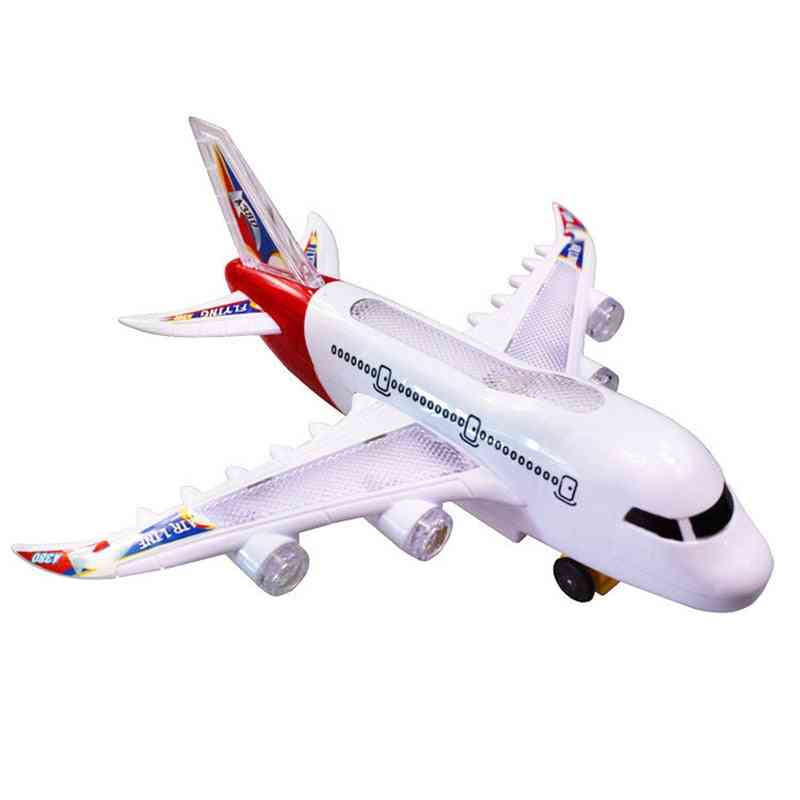 Kids Glider Plane, Electric Music Light Automatic Steering Plane Passenger Airplane - Aircraft Model Toy Kid Outdoor Games