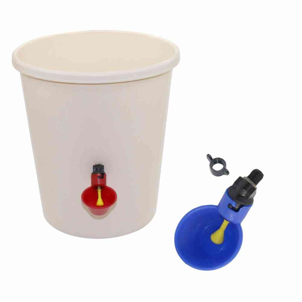 Automatic Drinker Chicken Feeder Plastic Poultry Water Drinking Cups Easy Installation With Screws