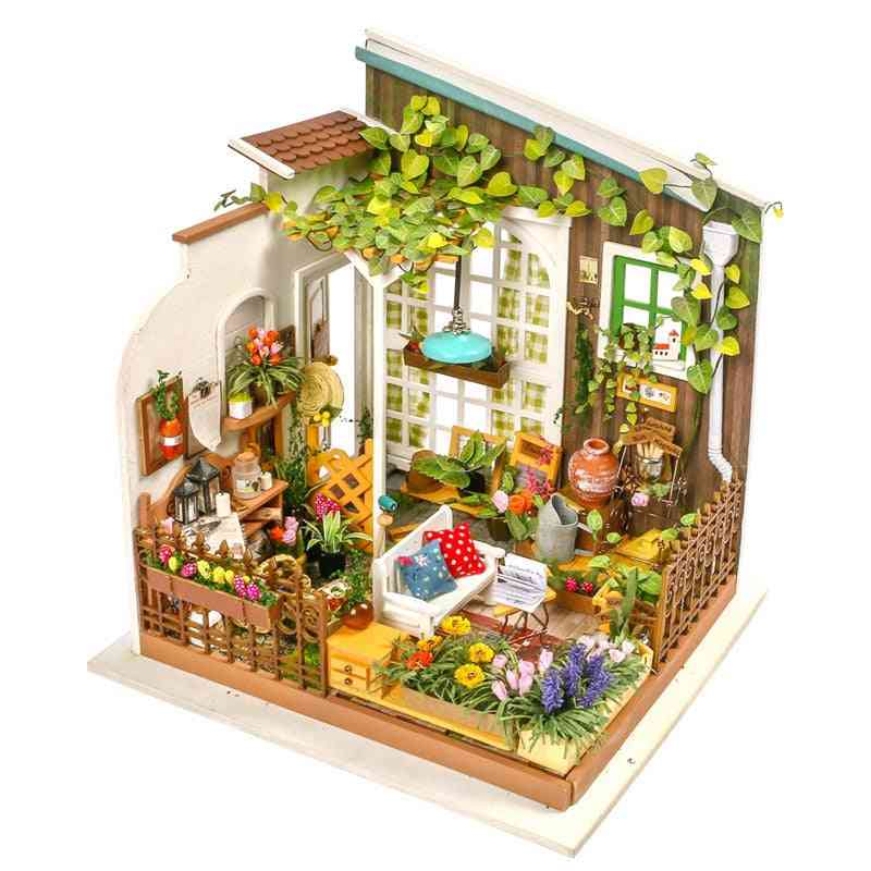 Miller's Garden Wooden Doll House With Furniture For, Best For