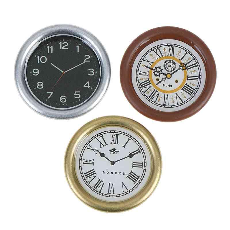 1:12 Scale Resin Dollhouse Miniature Wall Clock