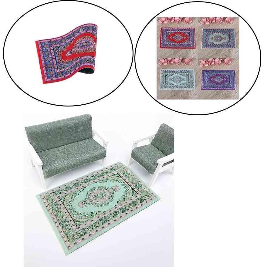 Woven Hand Turkish Rugs Doll House Mini Carpet Mat Miniature