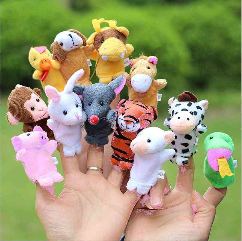 Baby Kids Finger Animal Educational Story, Puppets Cloth Plush
