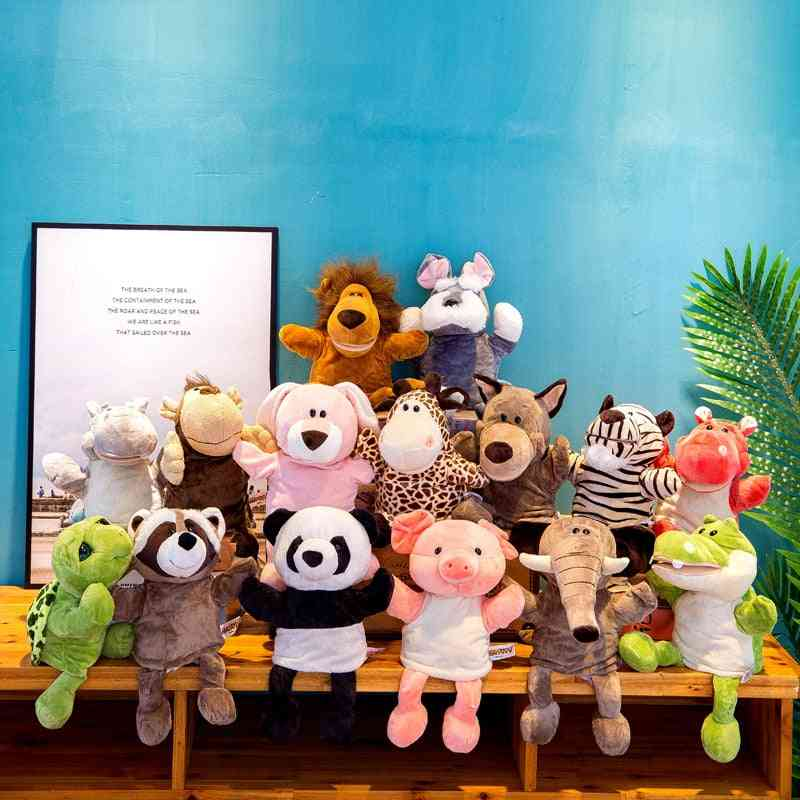 Cute Whole Body Animal Hand Puppet Plush Toy, Kindergarten Story Interactive Props Parent Child Game Glove Dolls