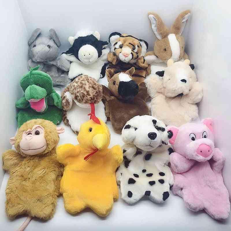 Cartoon Symbolic Animals Hand Puppet, Real Life Plush Dragon Dolls Birthday For
