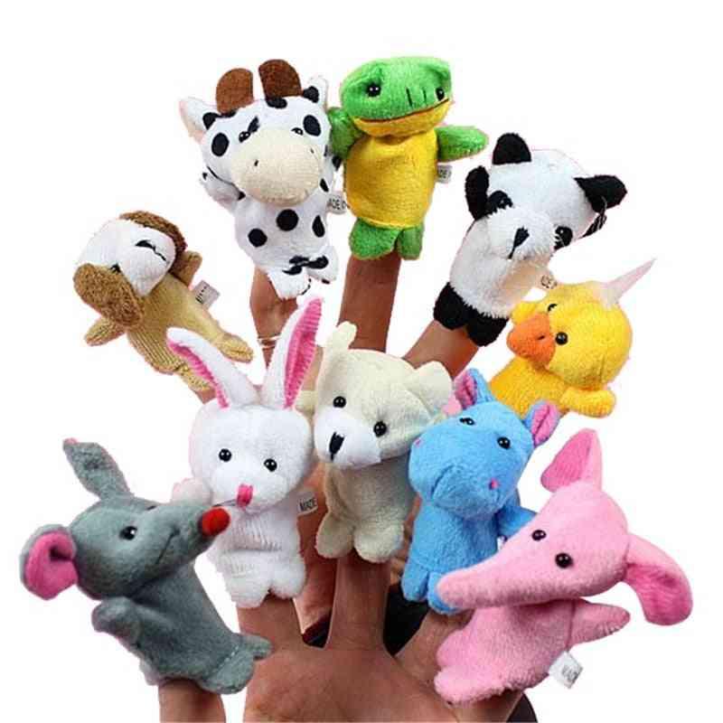 Cartoon Animal Finger Puppet Baby Plush For