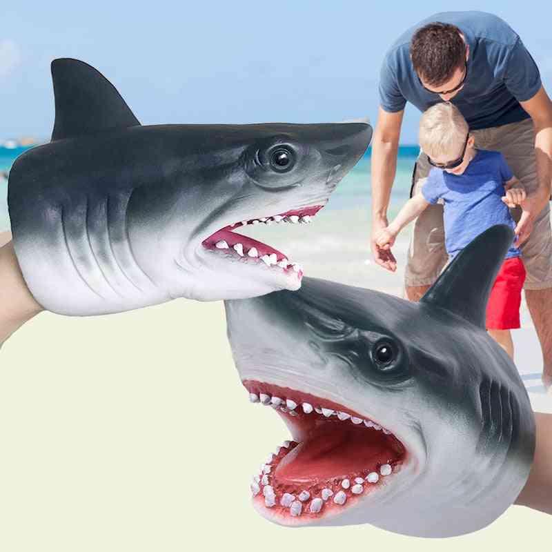 Shark Head Design- Hand Puppet Gloves- Kids