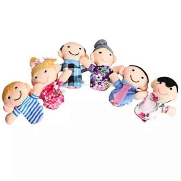 Family Finger Puppets Cloth, Doll Baby Educational Hand Toy