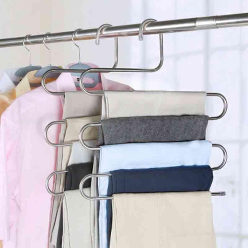 S Shape Multifunctional Clothes Hangers - Pants Storage Hangers, Cloth Rack Multilayer Storage Cloth Hanger