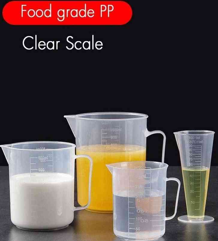 Kitchen Thickened Graduated Transparent Glass Measuring Cup