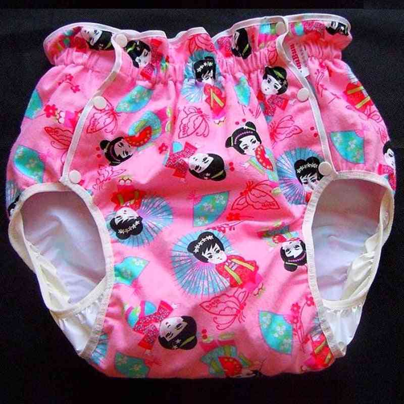Adult Diaper - Cute Doll Design Incontinence Pants