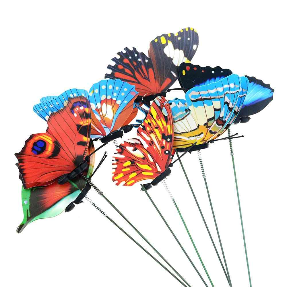 Garden Yard Planter Colorful Whimsical Butterfly Stakes 5pcs - Outdoor Flower Pots Decoration