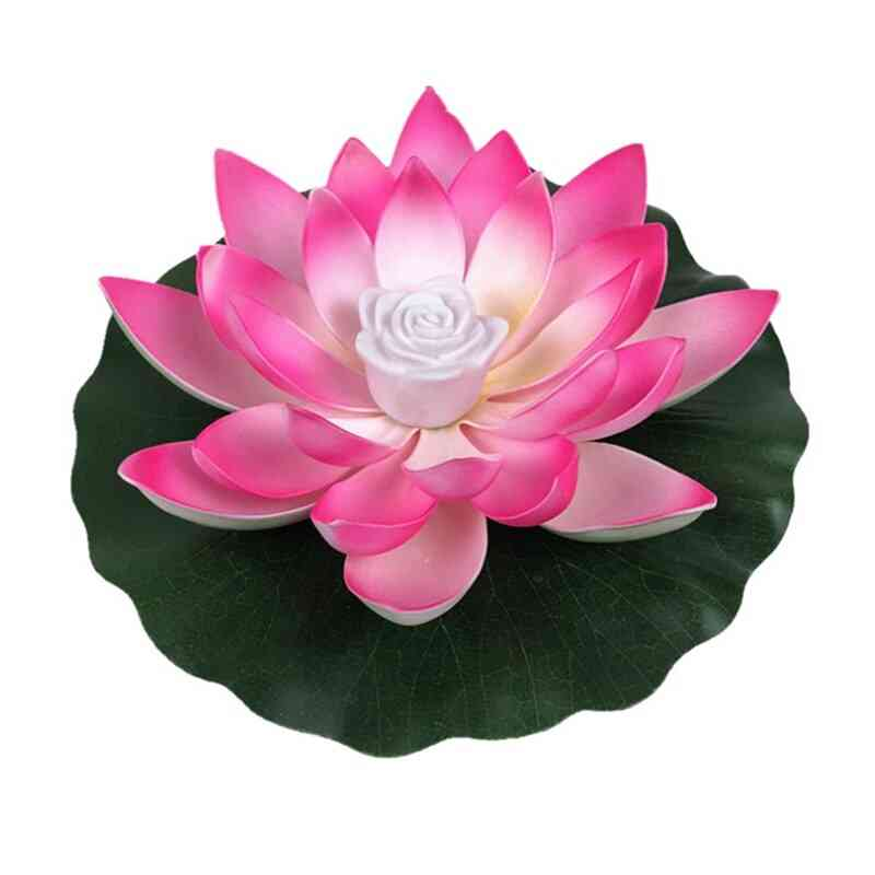 Artificial Floating Night Light Led Energy Saving Lotus Lamp For Garden Pool, Pond And Fountain Decoration