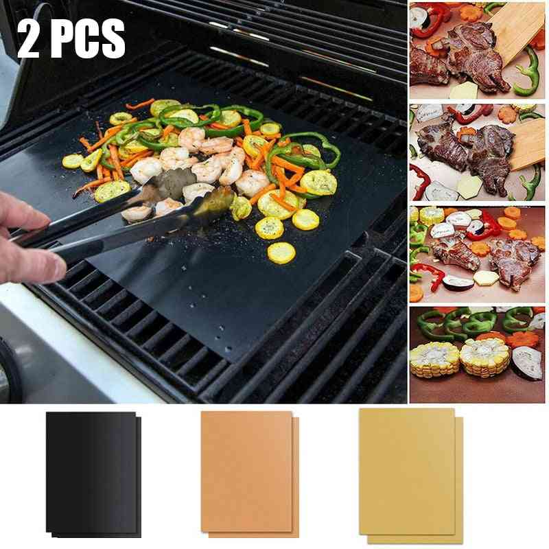 Non Stick Bbq Grill Pads, Barbecue Baking Reusable Cooking Plate , Grill Mat For Party