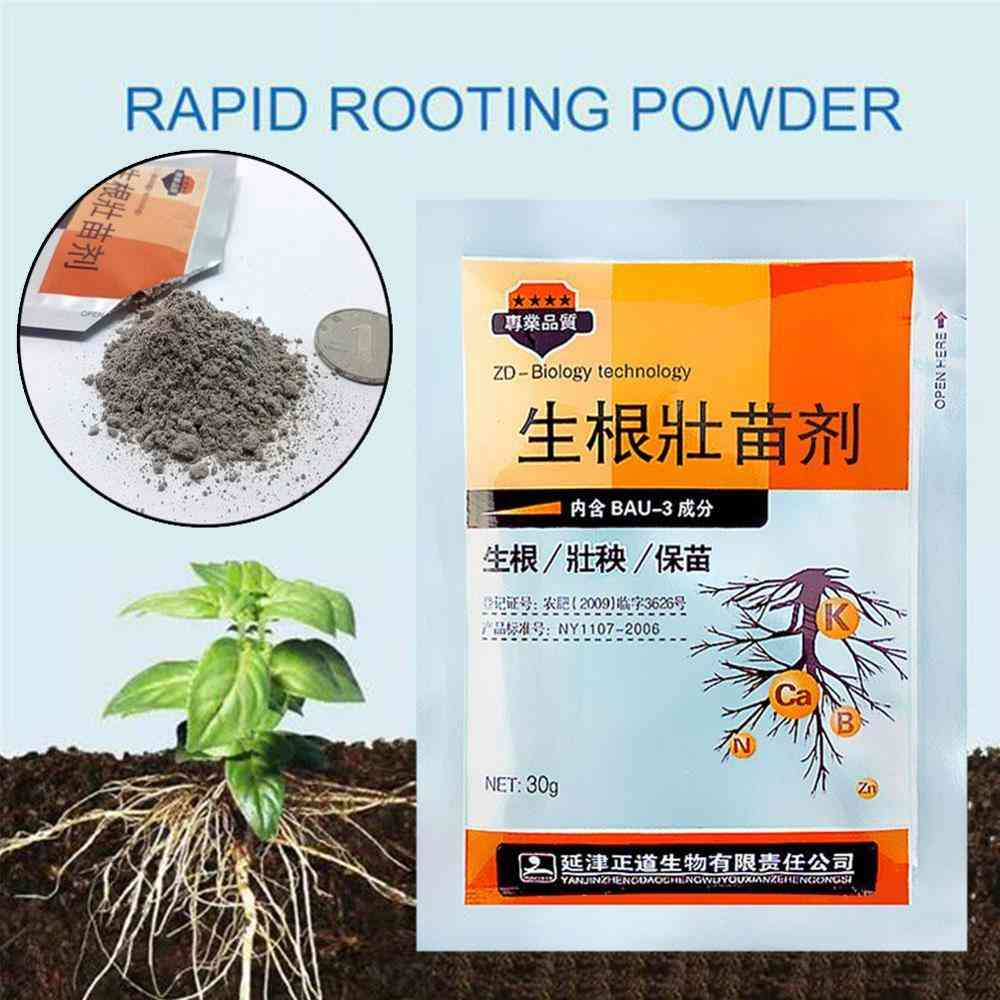 Garden Plants Quick Rooting Strong Germination Aid Powder 30g - Rapid Medicinal Seedling Agent For Cutting Soaking Fertilizer Trees