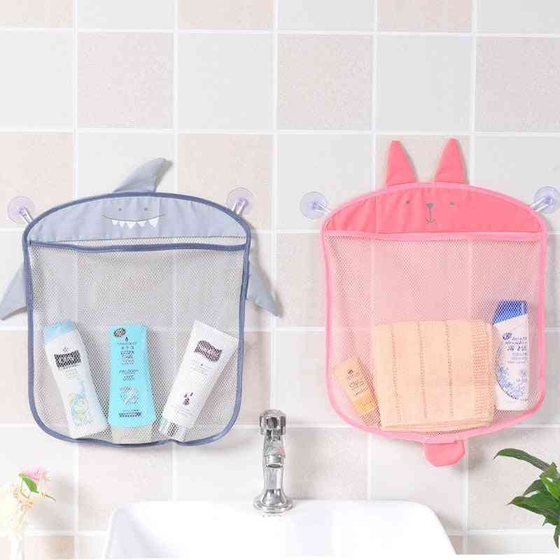 Mesh Bag For Kids Bathroom - Waterproof Cloth Basket For Storage