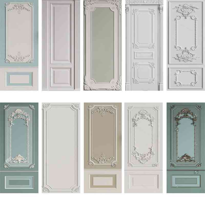 Home Decor Self Adhesive Pvc Removable Door Wrap Wall Sticker Mural Wallpaper