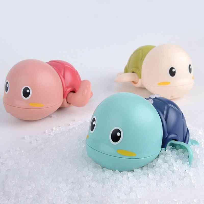 1 Pcs Cute Cartoon Animal Tortoise- Classic Baby Water Toy, Infant Swim, Turtle Wound-up, Chain Clockwork Kids Beach Bath