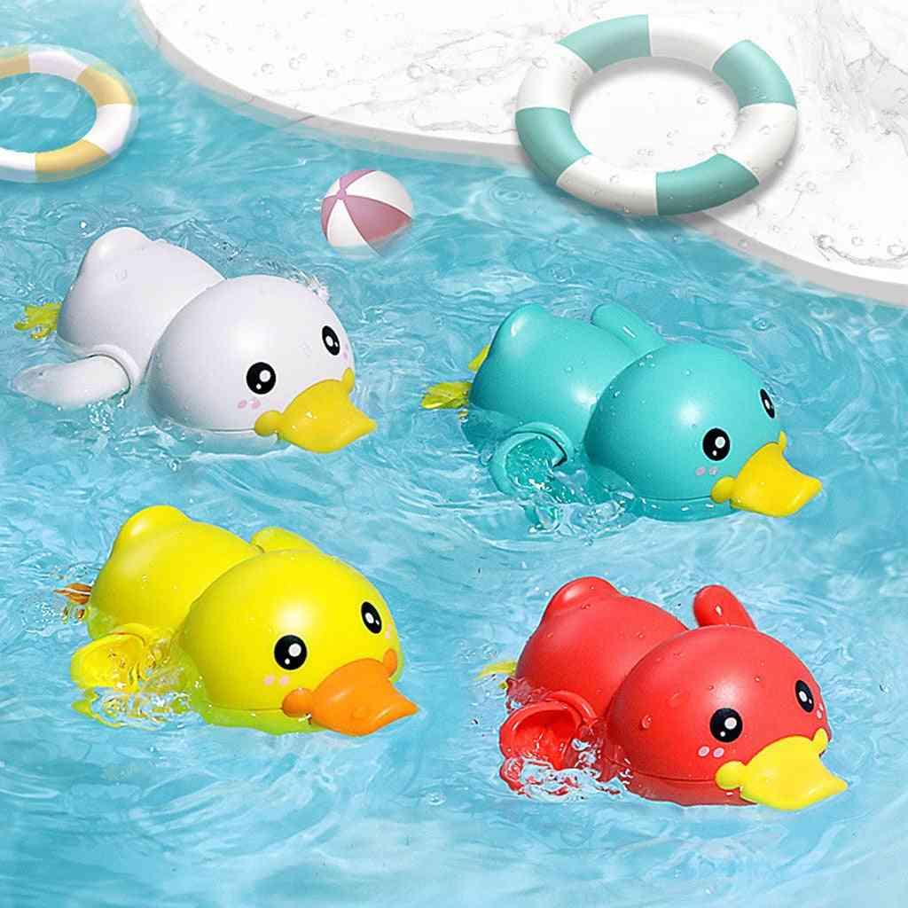 Bathroom Bath Shower, Baby Clockwork Swimming- Play Water Cute Little Yellow Duck Bathing Bathtub For Kid