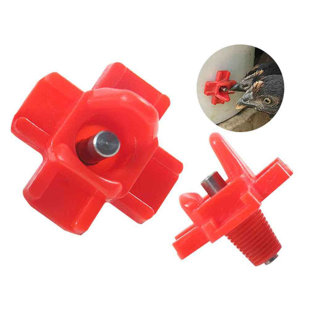 Mounted Horizontal Side Automatic Poultry Nipples Drinker Waterer For Chicken Quail