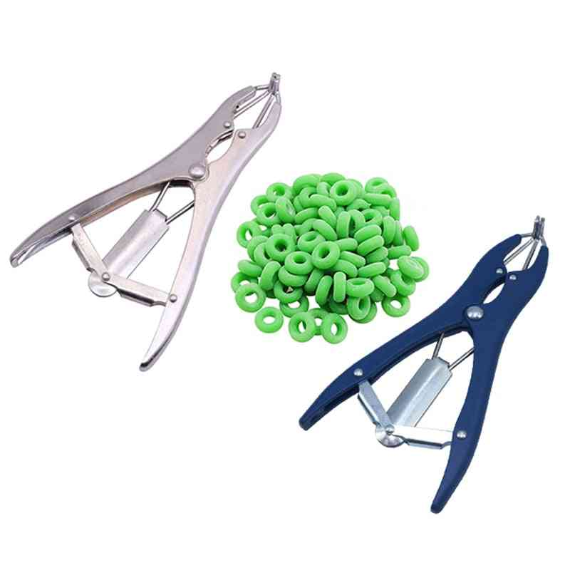 Tail Pigs And Sheep Castration Pliers Removal - Rubber Ring Castration Device Veterinary Equipment