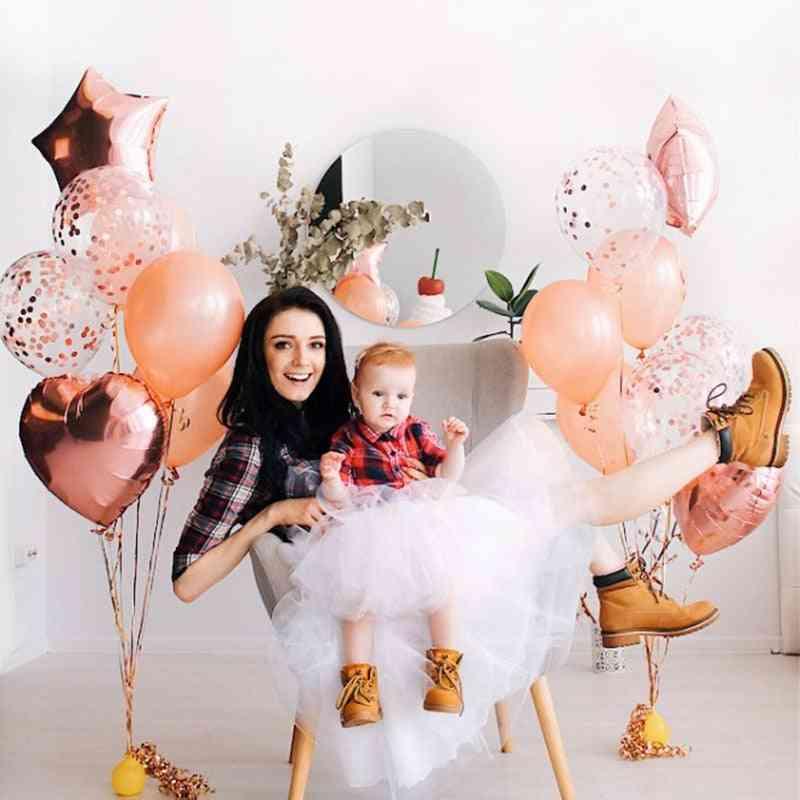 Multi Confetti Birthday Party Decor Balloons
