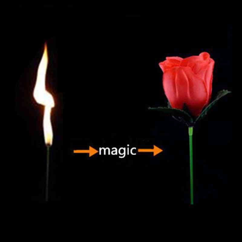Torch To Flower - Torch To Rose - Fire Magic Trick Flame Appearing Flower