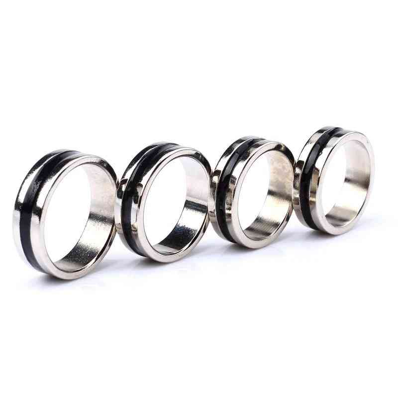 Black Circle Pk Ring Magic Tricks Strong Magnetic Ring Coin - Finger Decoration Magic Ring Props Tools