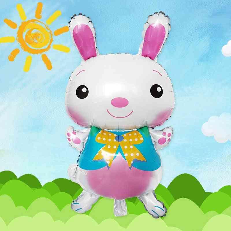 Cute Cartoon Rabbit-aluminum Film Balloon For Easter Party Decoration