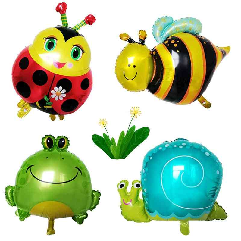 Cartoon Insect Modeling Ladybug Bees Frog Snail Aluminum Film Balloon  - Birthday Decorative Room Balloon